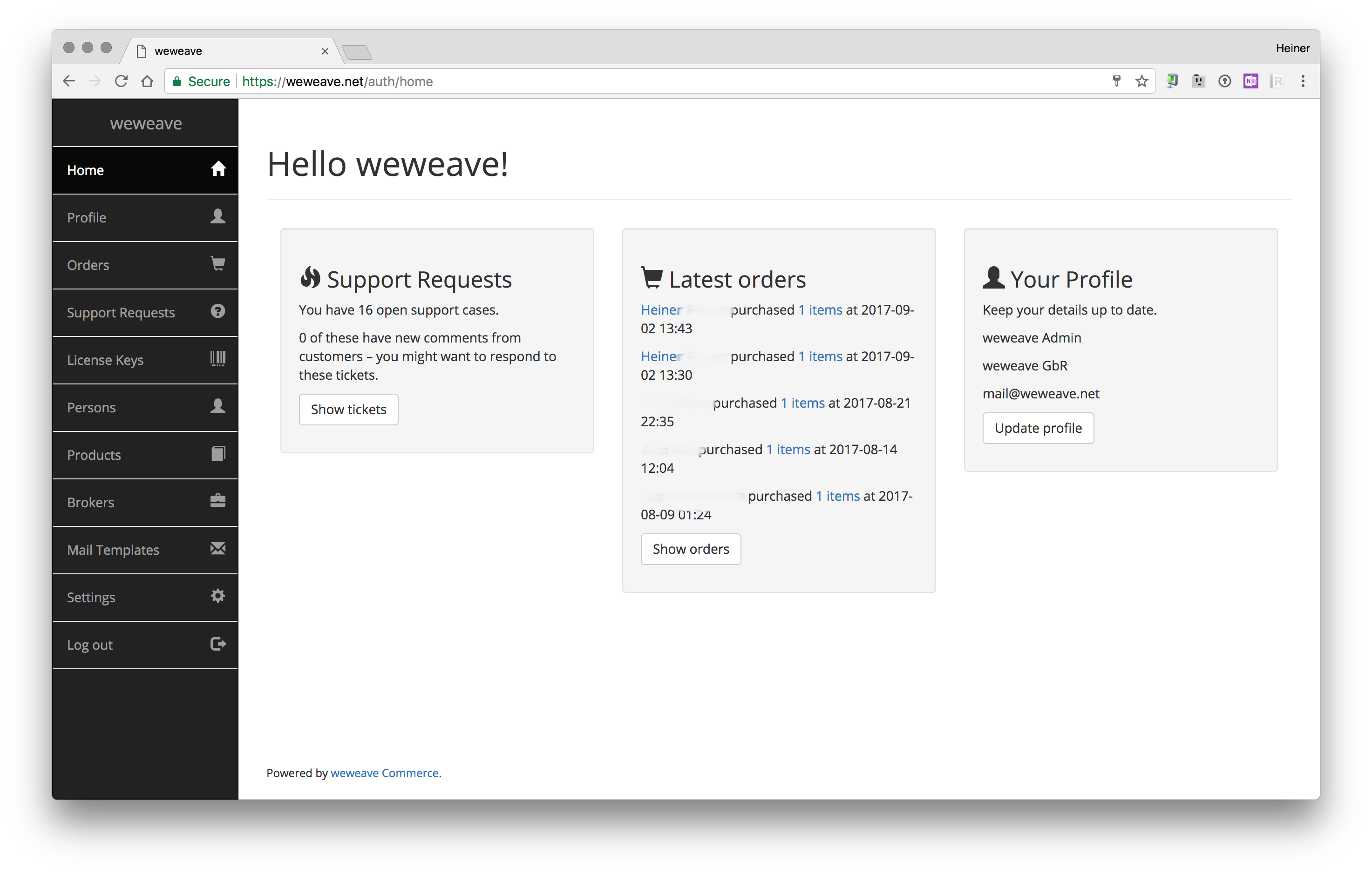 We've open-sourced our customer portal: weweave Commerce is here